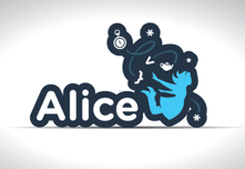 Alice Logo Sticker